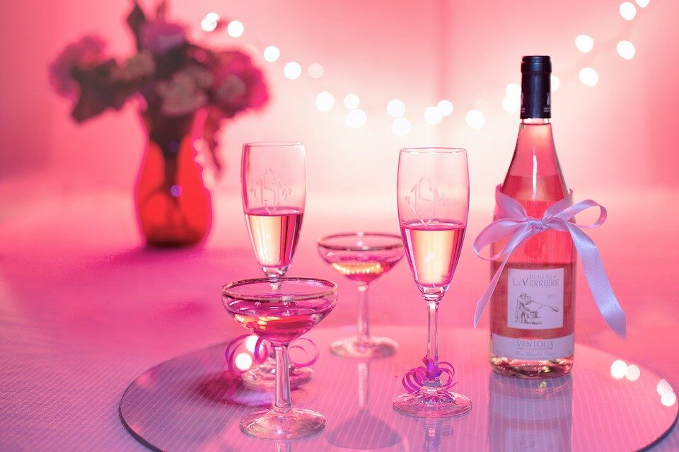 pink beverages with pink background during a pink party   Fun Birthday Party Ideas for Women in Orlando